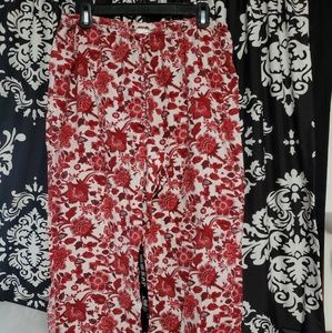 ❤️ Lands' End Red And White Pattern Pajama Pants ❤